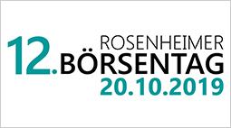 Aktuelle Informationen zum 12. Rosenheimer Börsentag am 20. Oktober!