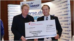 11. Rosenheimer Börsentag – Alljährliche Spendenscheck-Übergabe