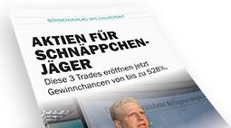 """Neu: Sonderreport """"Aktien für Schnäppchenjäger: Gewinnchancen von bis zu 528%!"""""""