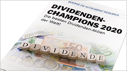 "Brandaktuelle Sonderstudie ""Dividenden-Champions 2020"""