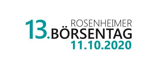 13. Rosenheimer Börsentag: Jetzt anmelden!