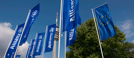 Fahnenmasten der Allianz Group