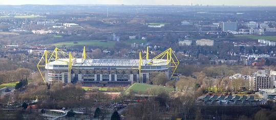 Luftaufnahme Westfalenstadion.
