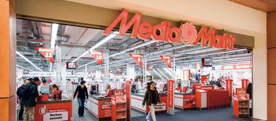 Eingangsbereich eines Media Markt.