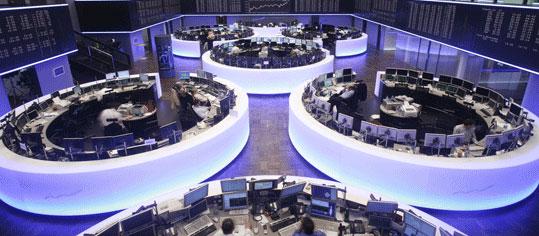 Innenraumaufnahme einer deutschen Börse