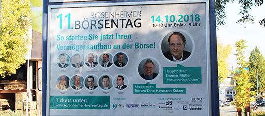 Aktuelle Informationen zum 11. Rosenheimer Börsentag am 14. Oktober!