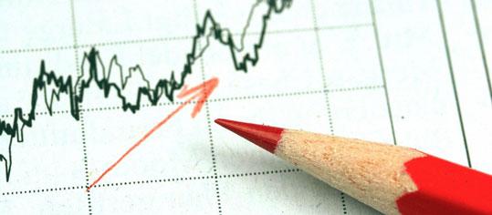 Steigender Aktiengraph