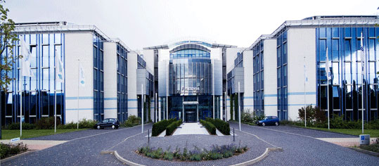 Außenaufnahme eines Fresenius Firmengebäudes