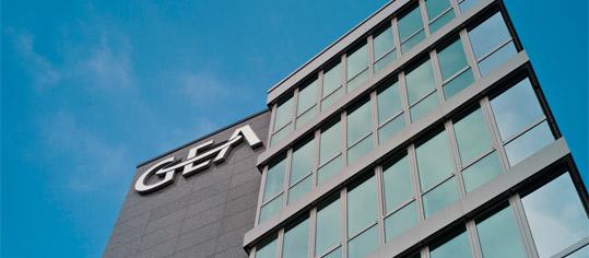 GEA Logo an Hausfassade