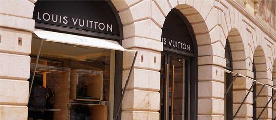 Louis-Vuitton-Geschäftslokal von außen.