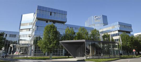 Konzernzentrale von MTU Aeor Engines in München.
