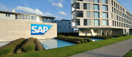 Außenaufnahme eines SAP Firmengebäudes
