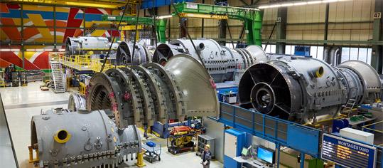 Produktionsablauf bei Siemens Energy