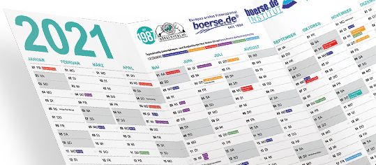 NEU und GRATIS: Börsenkalender 2021