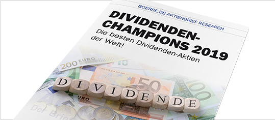 "Brandaktuelle Sonderstudie ""Dividenden-Champions 2019"""