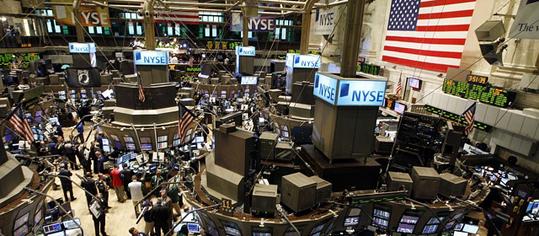Innenraumaufnahme der New York Stock Exchange