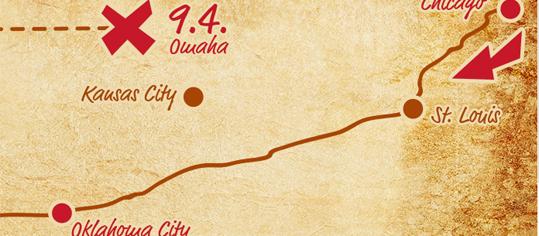 Route to Warren Buffett – über die legendäre Route 66 und weiter nach Omaha, Nebraska
