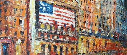 Börsenbild Wall Street No. 4 von Carlos