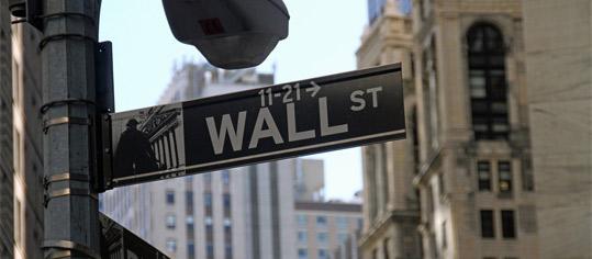 Straßenschild Wall Street.