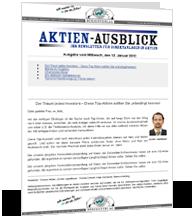 Kostenloser Newsletter Aktien-Ausblick