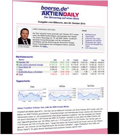Kostenloser Newsletter Aktiendaily