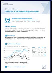 Factsheet zum BCDI-Zertifikat