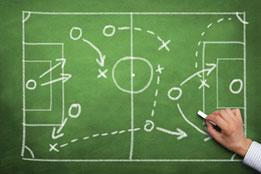 Fußballtaktiktafel