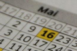 Bild von einem Kalender mit dem Ausschnitt Mai