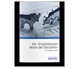 10 beliebteste Aktien der Deutschen