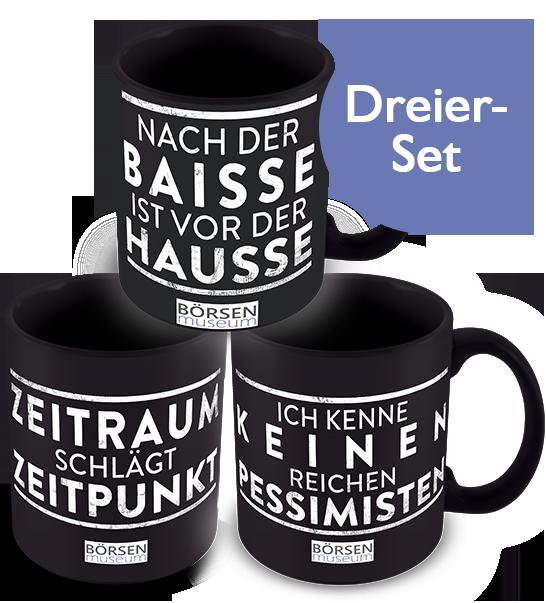 Kaffeetassen Dreier-Set