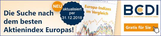 Gratis für Sie - Europas-Indizes im Vergleich