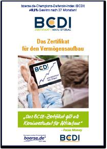 Flyer zum BCDI-Zertifikat